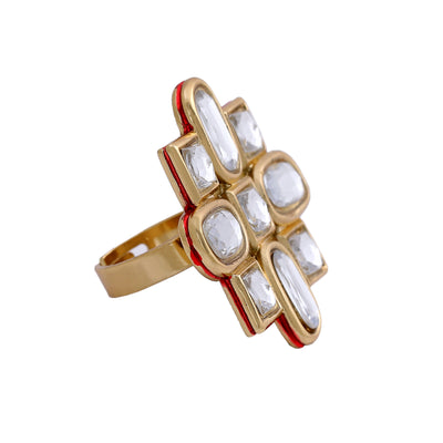Fashion Polki kundan ethnic ring for women