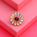 Designer polki Kundan ring for women