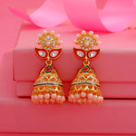 Fancy Pearl Drop 24kt Gold Plated Jumka Earrings