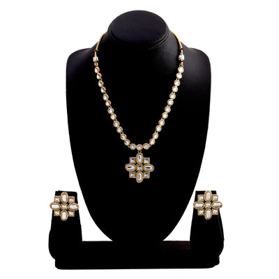 Fashion Jewellery CZ Diamond Design Necklace Set for Women