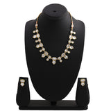 24Kt Gold Plated Kundan Fancy Necklace Traditional Jewellery Set with Earrings