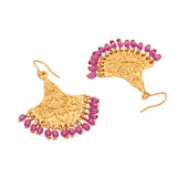 ESTELE - Gold Plated Antique inlay work Earrings