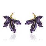Purpule Enamel Stud Earrings
