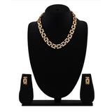 Estele - 24 KT Interlink Chain Necklace Set
