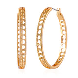Cutwork Circular Hoop Earrings