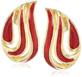 Estele - Enamel and Gold Plated  Angel wing Earrings For Girls & Women