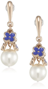 Estele Valentines Day Special Earrings - combo of beautiful enamel flower drop For Gift Stud Earrings For Girls & Women