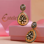Handcrafted Kundan Drop Earrings