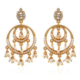 Traditional Chandbali Pearl Drop Earrings
