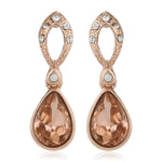 Bright Rose Gold Swarovski Stone Drops