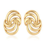 Designer Gold Tone Earrings