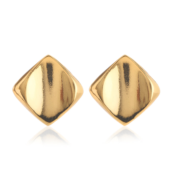 Gold Tone Diamond Modal Studs
