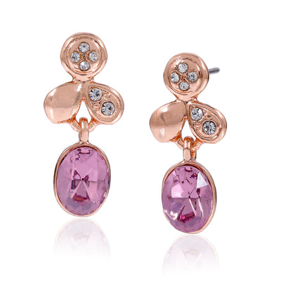 Austrain Crystal Leaf Drop Earrings