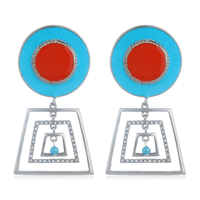 Colourful Geometric Earring