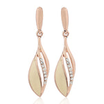 Rose Gold Enamel Earrings