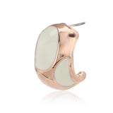 Rose Gold White Enamel Casual stud earrings