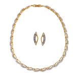 Gold Plated Necklace Set With Earrings Jewellery/AD Necklace Set For Women