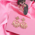 Rose Gold Stylish Fancy Party Wear Pearl Earrings