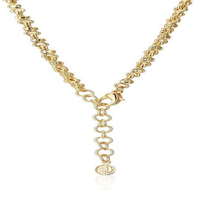 Estele 24 Kt Gold Plated with Austrian Crystal and Pearl Necklace Set for Women