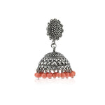 Oxidised  drop Beads Jhumki