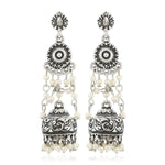 Pearl Drop Jhumka Earrings
