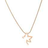 RISING STAR ROSE GOLD PENDANT AND EARRING SET