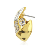 Estele Gold Plated AD Crystal Stud Earrings