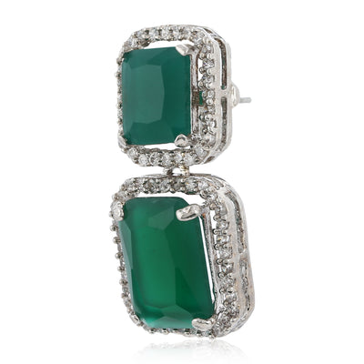 Aster Green emerald stones Earrings