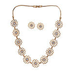 Kundan Mirror Long Necklace Set