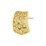 Gold Tone Plated Casual Stud Earrings