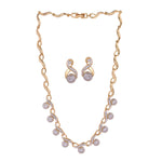 Estele Pearl Drop Necklace Set