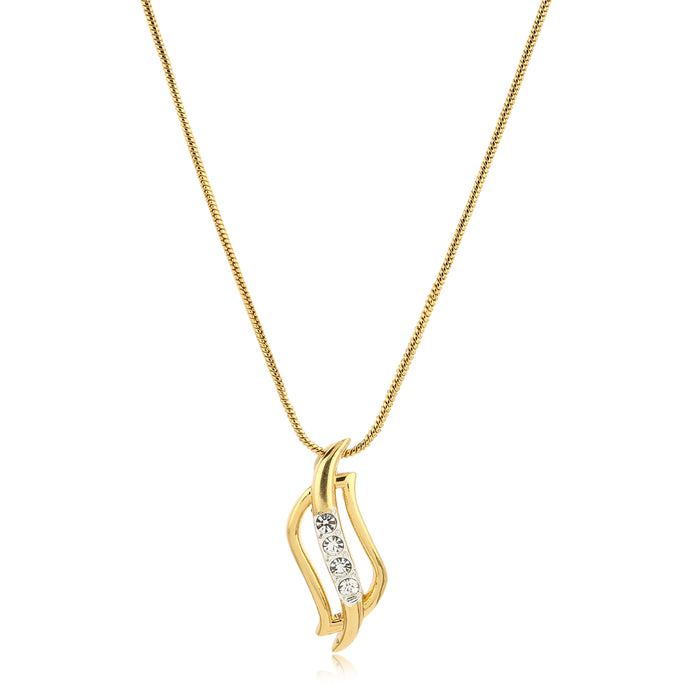 24kt Gold tone plated Pendant Chain With Earrings