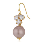 Rose Gold AD stone Pearl Drop