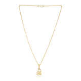Gold Pendant with Chain For Womens
