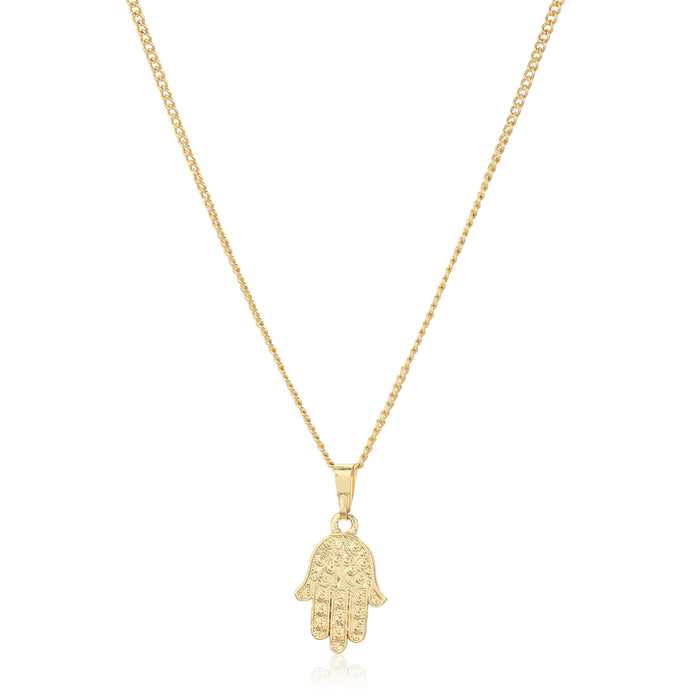 Hamsa Pendant with Chain