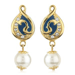 Gold Tone Plated Womens Earrings