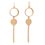 Estele Luxury Designer Gold Plated Drop Earrings