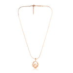 Rose Gold Plated Fancy Pendent Set