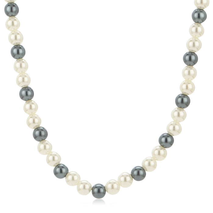 Single Line Flux Pearl Necklace
