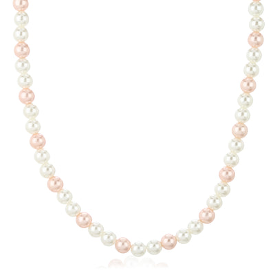 Handcrafted Single Line Flux Pearl Necklace