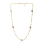 Handcrafted One Line White Flux Pearl Necklace