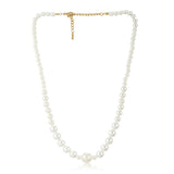 Handcrafted One Line Flux Pearl Necklace