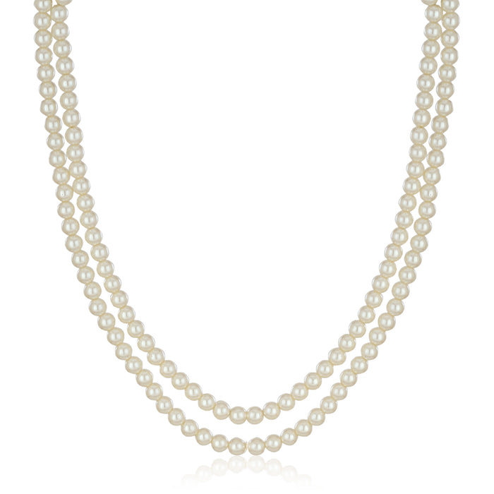 Double Line Pearl Necklace