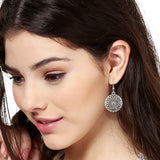 Silver Tone Plated Round Hoop Earrings