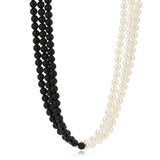 Black And White Flux Pearl Necklace
