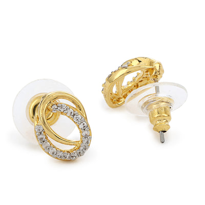 Round AD Stone Stud Earrings