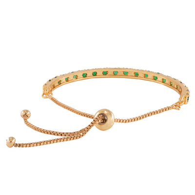Candy White Crystal Stone Gold Plated Bracelet