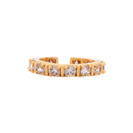 Dazzling Imperial White Austrian Crystal Gold Plated Ring (adjustable)