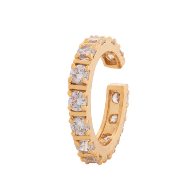 Dazzling Imperial White Austrian Crystal Gold Plated Ring