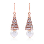 Crystal Faux Pearl Drop Earrings